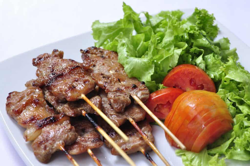 asian grilled pork thai food
