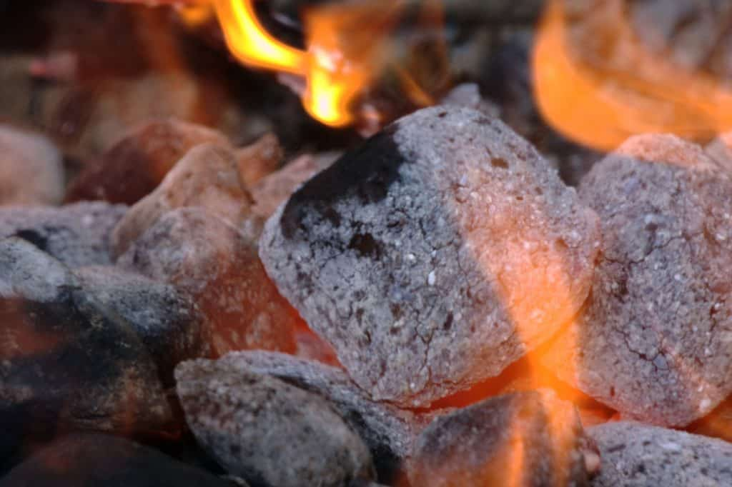 charcoal flames
