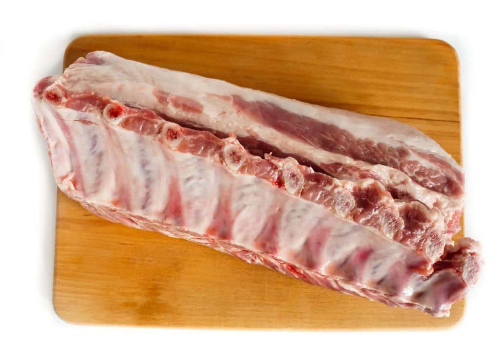 fresh pork loin on the bone