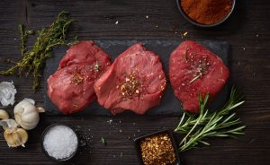 fresh raw beaf steak meat