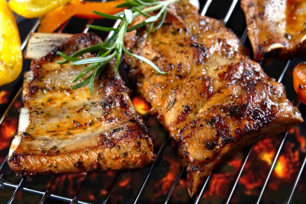 fresh tasty grilled pork ribs