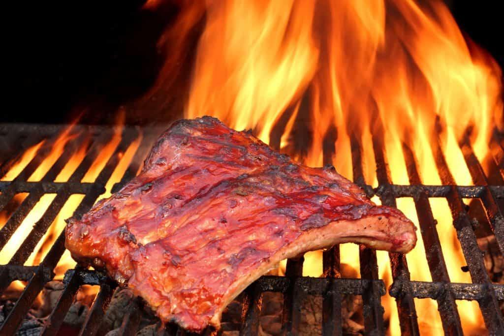 grilled bbq tasty smoked marinated pork ribs