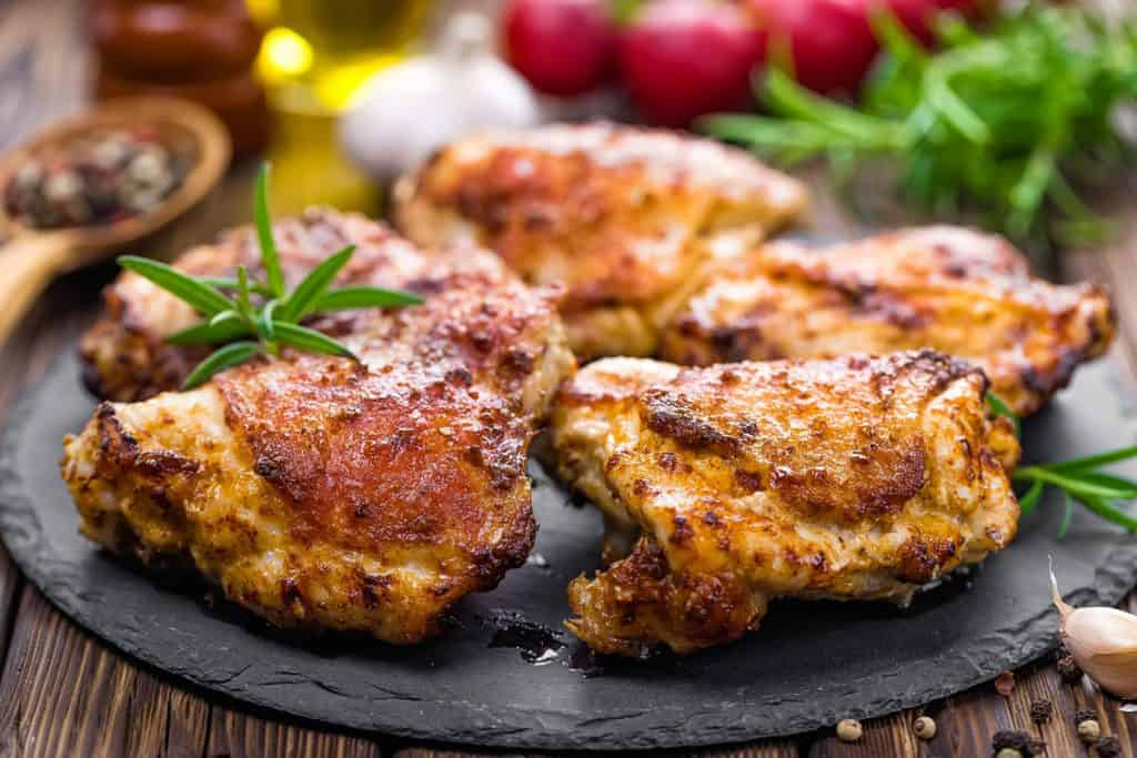 grilled chicken thighs with spices