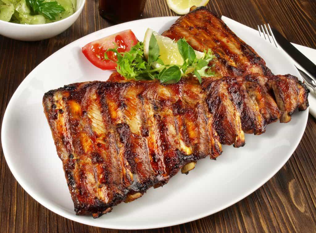 grilled marinated pork spareribs