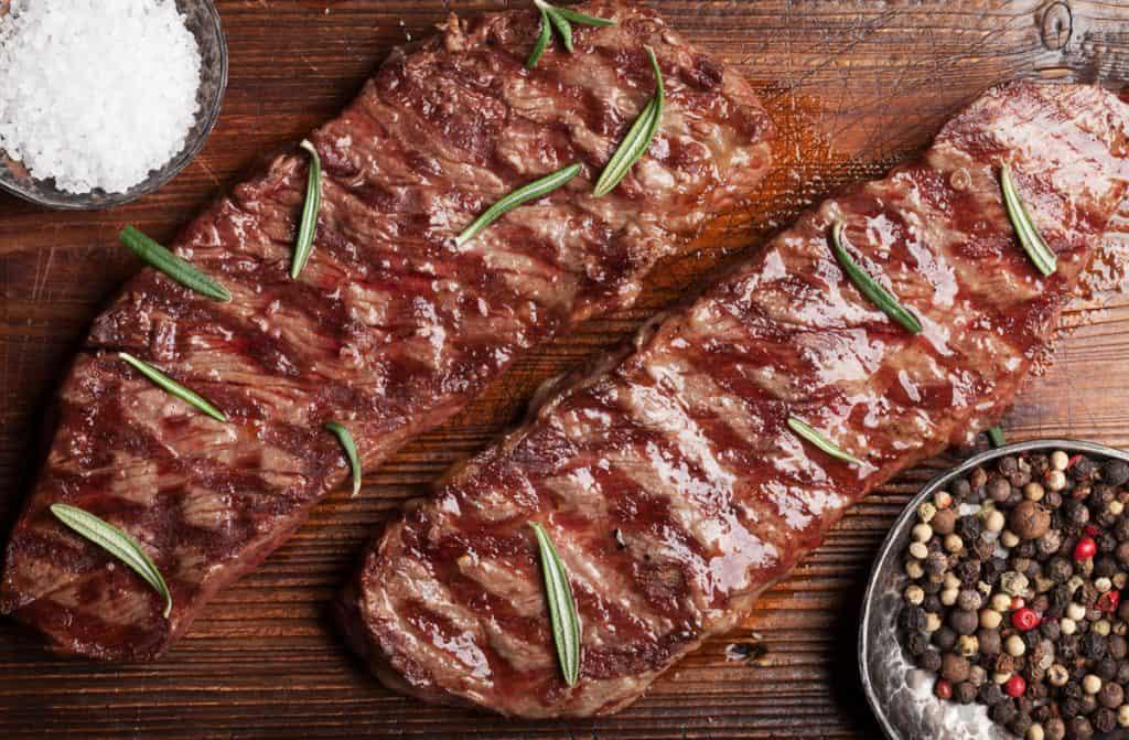 grilled op blade or denver steak