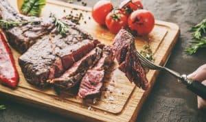 grilled tomahawk meat medium rare