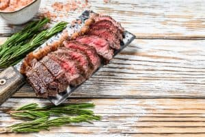 grilled top sirloin cap or picanha steak
