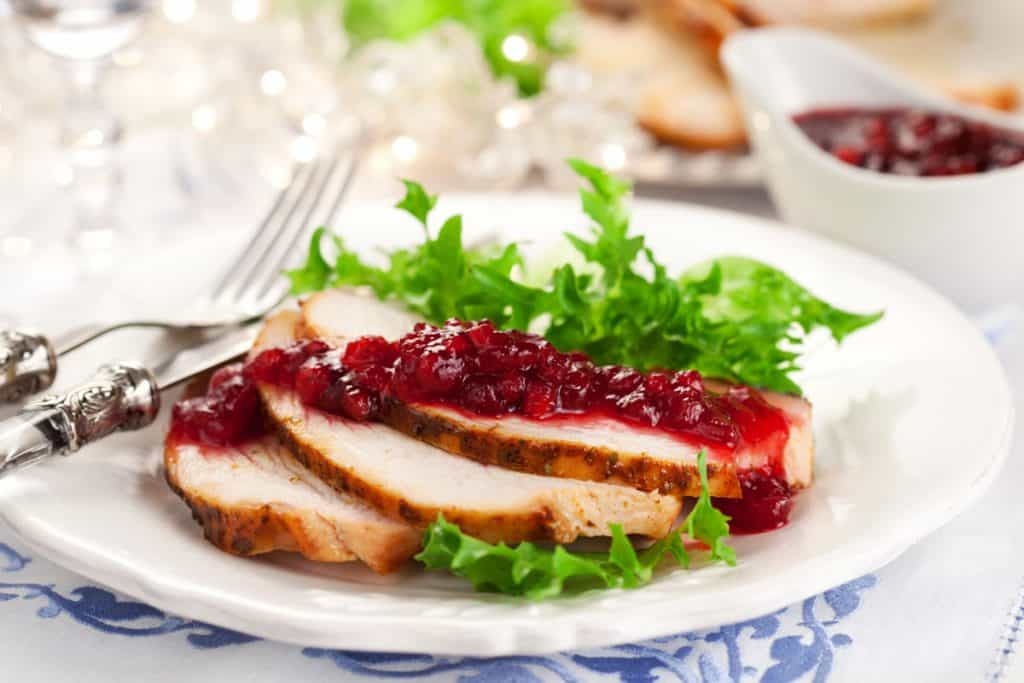 grilled turkey breast with cranberry sauce