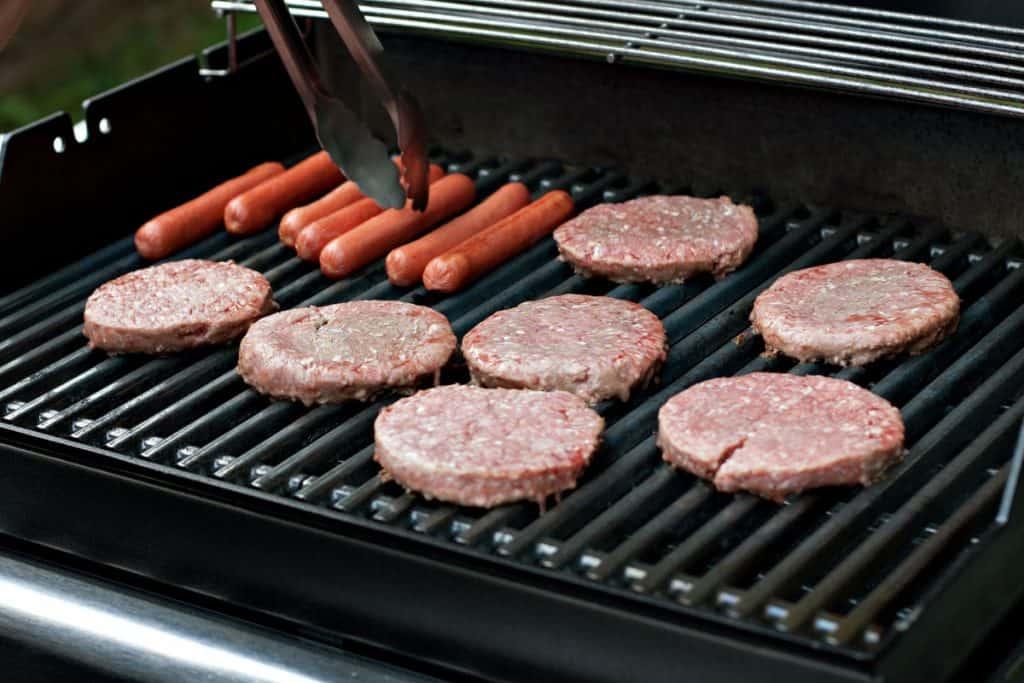hot dogs and hamburgers