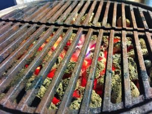 how to clear cast iron grill grates