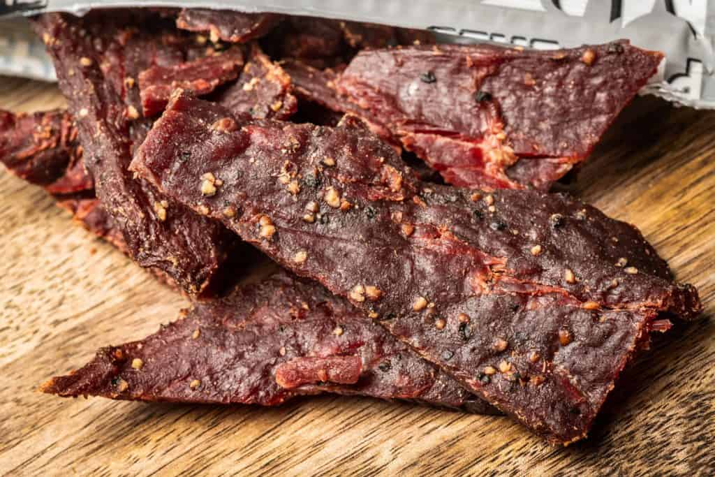 organic dried peppered beef jerky