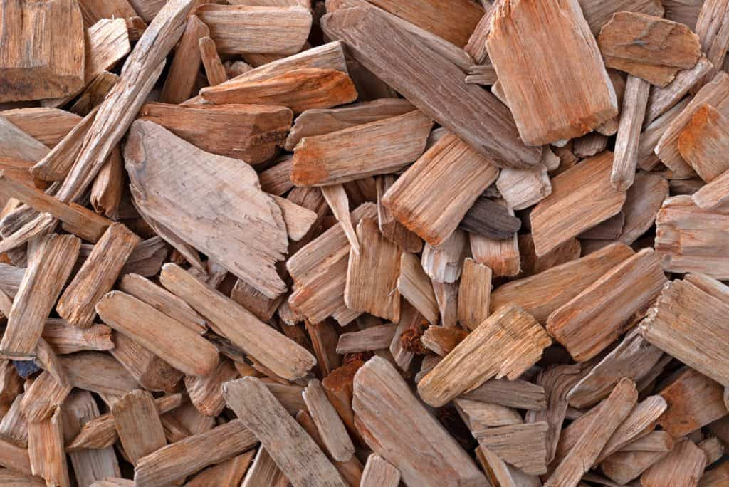 overhead view of a group of alder smoking chips