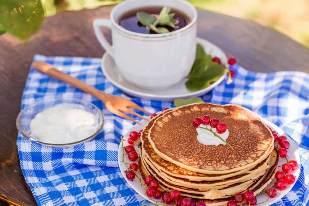pancakes outdoors
