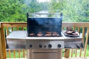 pork steaks on gas grill