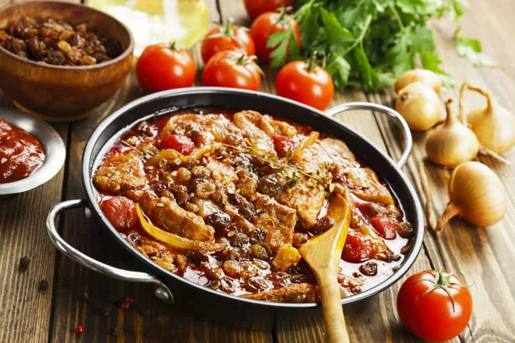 pork stew with tomatoes and raisins