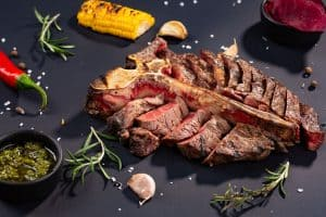porterhouse t-bone steak