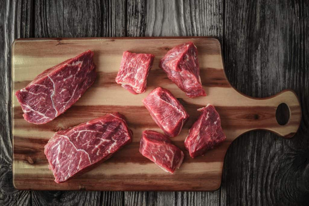 raw angus beef slices