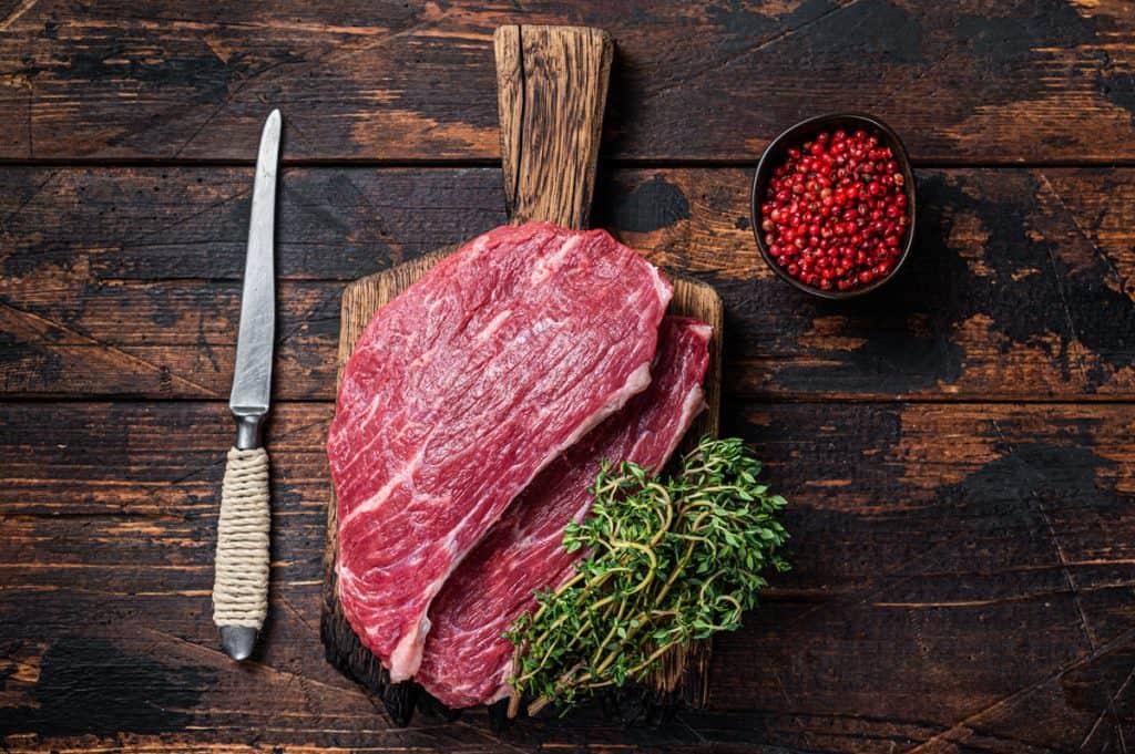 raw top sirloin cap steak or picanha steak