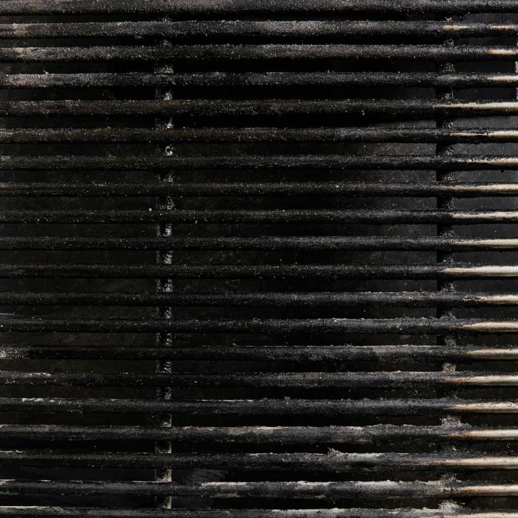rusty cast iron grill