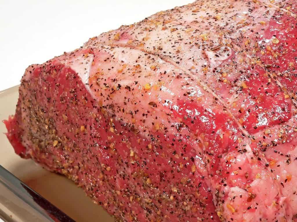 seasoned prime rib