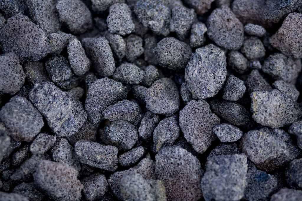 sharp lava rocks