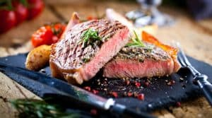 sliced grilled meat barbecue steak striploin