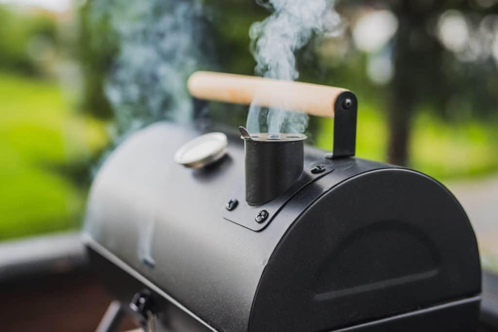 smoke coming from smoker BBQ