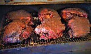 smoking pork shoulders pellet gill