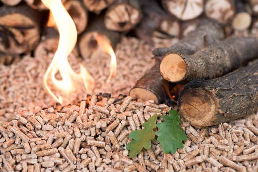 wood and pellets