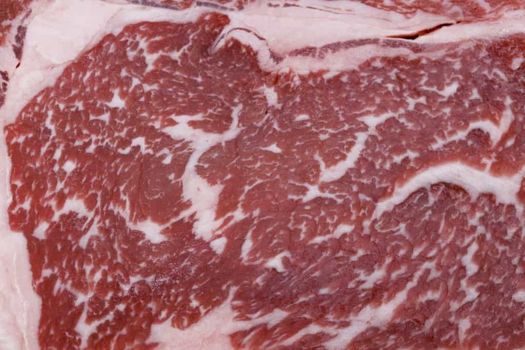 Wagyu beef steak marbling